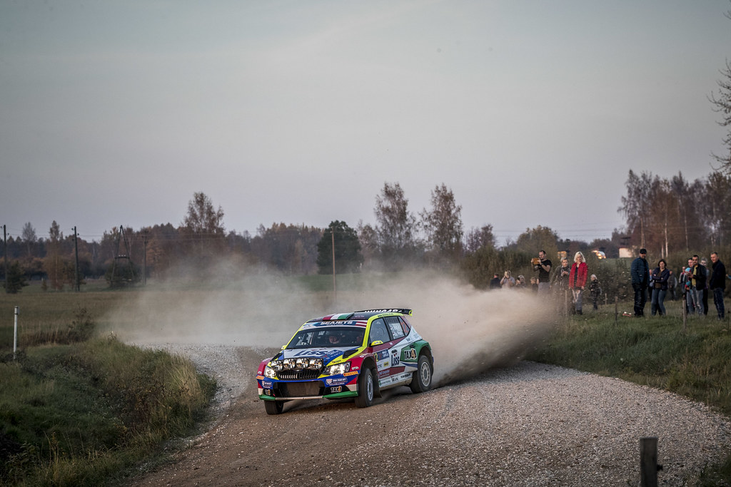 12 ERDI Junior Tibor , (HUN), Gyorgy PAPP, (HUN), Skoda Fabia R5, Action during the 2018 European Rally Championship ERC Liepaja rally,  from october 12 to 14, at Liepaja, Lettonie - Photo Gregory Lenormand / DPPI
