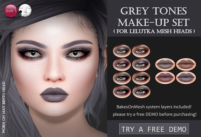 Grey Tones Make-Up Set (LeLutka) for FLF