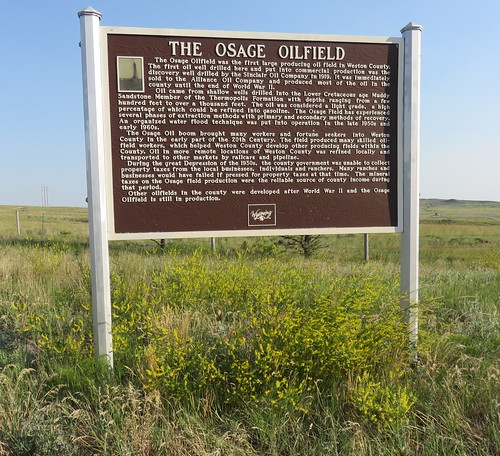 The Osage Oilfield Marker (Osage, Wyoming)