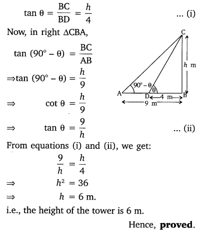 NCERT Solutions for Class 10 Maths Chapter 9 Some Applications of Trigonometry 26
