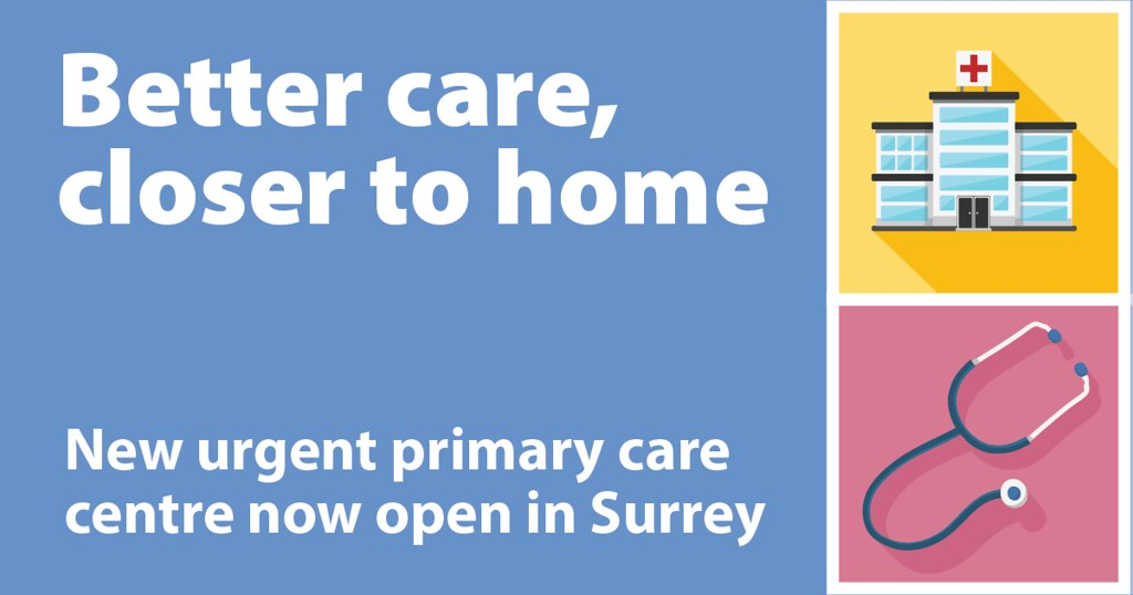 Surrey residents now have improved same-day access to urgent primary care with the opening of the new Surrey Urgent Primary Care Centre.
