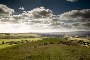 Melbury downs Dorset long way down
