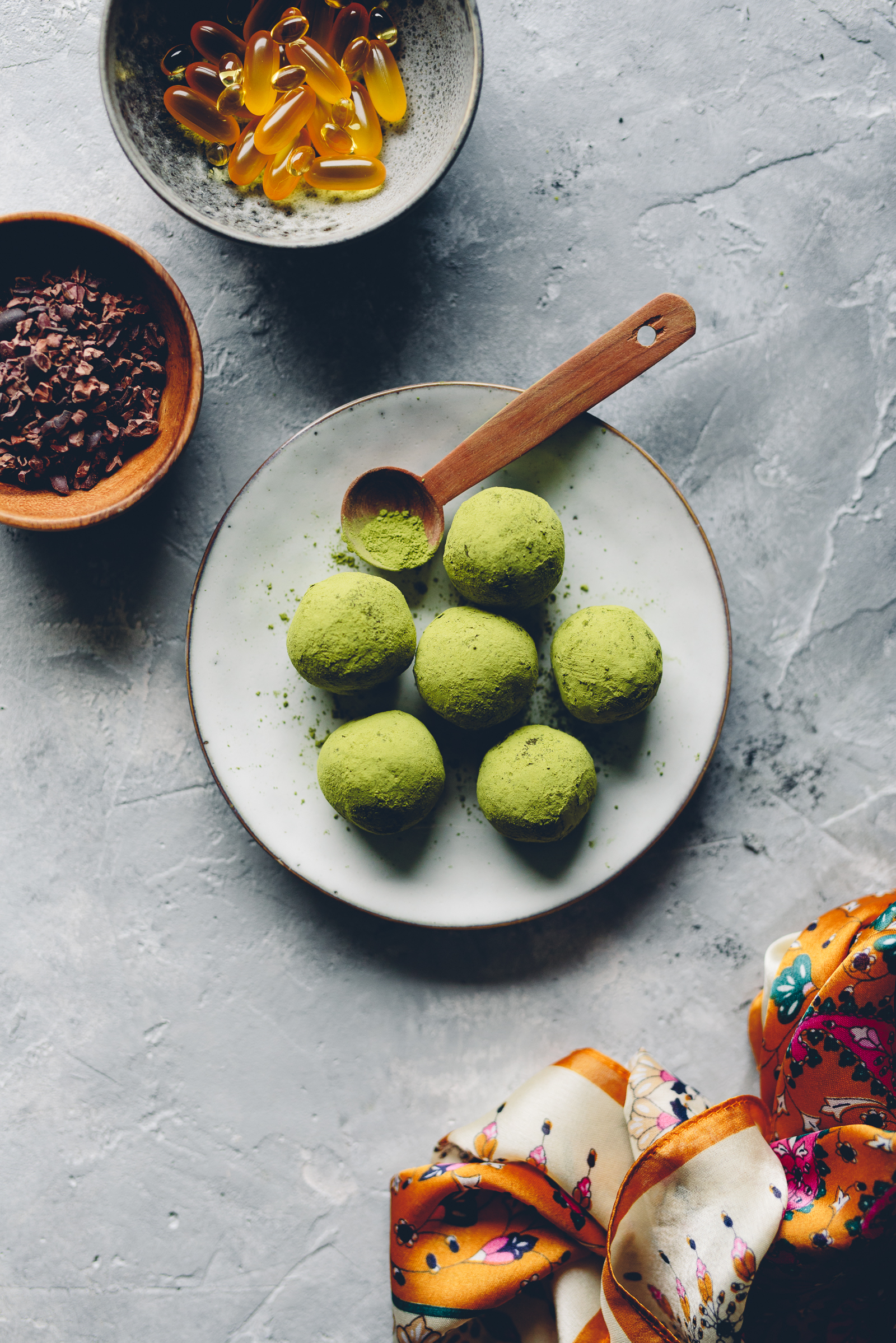 Raw Chocolate Matcha Truffle | Cashew Kitchen