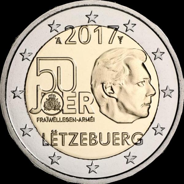 2 Euro Luxemburgsko 2017, Dobrovoľná armádna služba