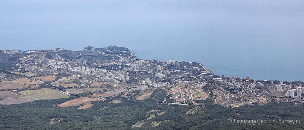 побережье вид с Ай-Петри в Крыму