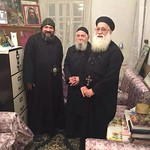 القمص مكارى عبد الله مع  الانبا مكاري اسقف شبرا الجنوبية