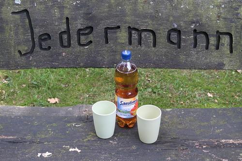 """Apfelschorle (bei Trinkpause auf Fahrradtour """"Bauernhoftour"""" im Artland)"""