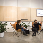 Tue, 02/10/2018 - 7:32am - Cat Power (Chan Marshall) in conversation with FUV's Carmel Holt, at the Sonos Listening Room in Soho. Photo by Gus Philippas/WFUV