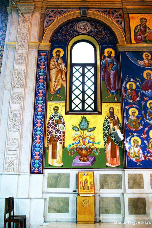 Роспись стен в соборе Св. Преображения