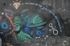 Karaköy Istanbul Alien street art graffiti.