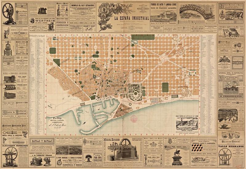 Juan Calvet y Boix - Plano industrial y comercial de Barcelona (1887)
