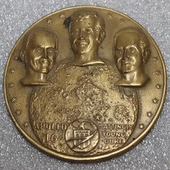 Apollo 16 Bronze Medal obverse