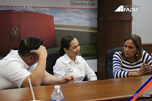 """Directivos e Investigadores de la FADU, presentan la propuesta """"Parque lineal Urbano Andonegui"""" a secretarios y regidores del H. Ayuntamiento  de Tampico."""