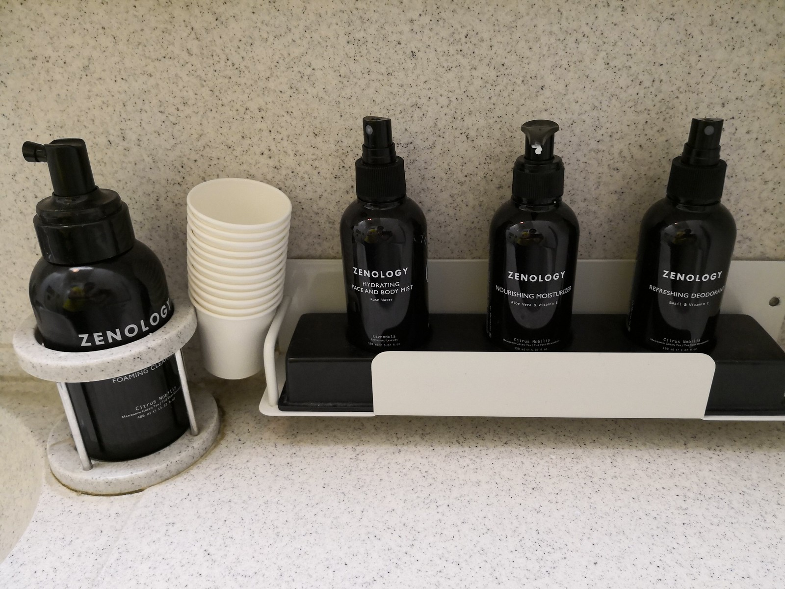 Amenities in the lavatory