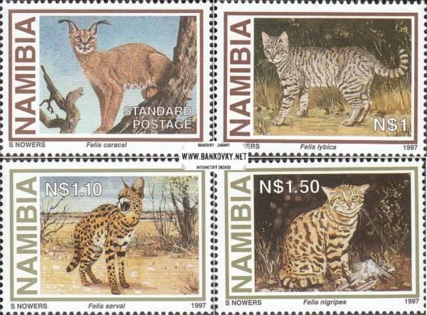Známky Namíbia 1997 Mačkovité šelmy