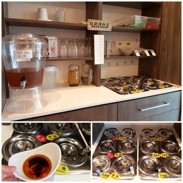 DIY sauce station