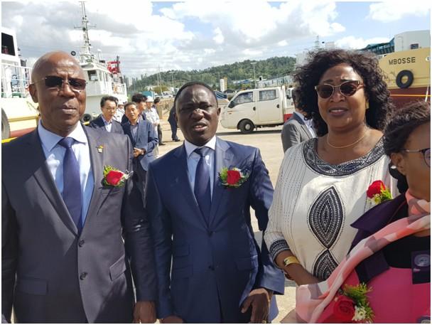 Ndéye Tické Ndiaye DIOP, Directeur général de l'Agence nationale des Affaires maritimes réceptionne les navires du MIEP2 (1)