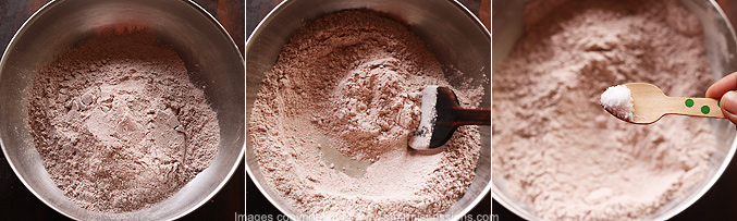 How to make ragi puttu recipe - Step1