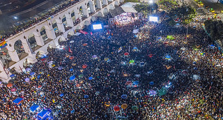 Nearly 70,000 gathered in Rio last Tuesday to call for defending democracy ahead of Brazil's highly polarized elections - Créditos: Ricardo Stuckert