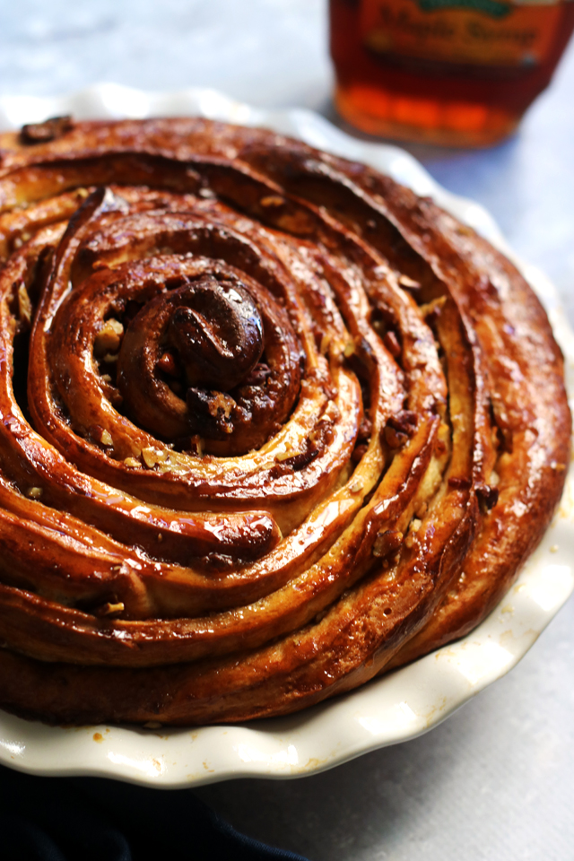 Maple-Glazed Pecan and Brown Sugar Cinnamon Bun