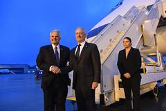 Mattis Says Parting Greeting to Ambassador, Departs Prague