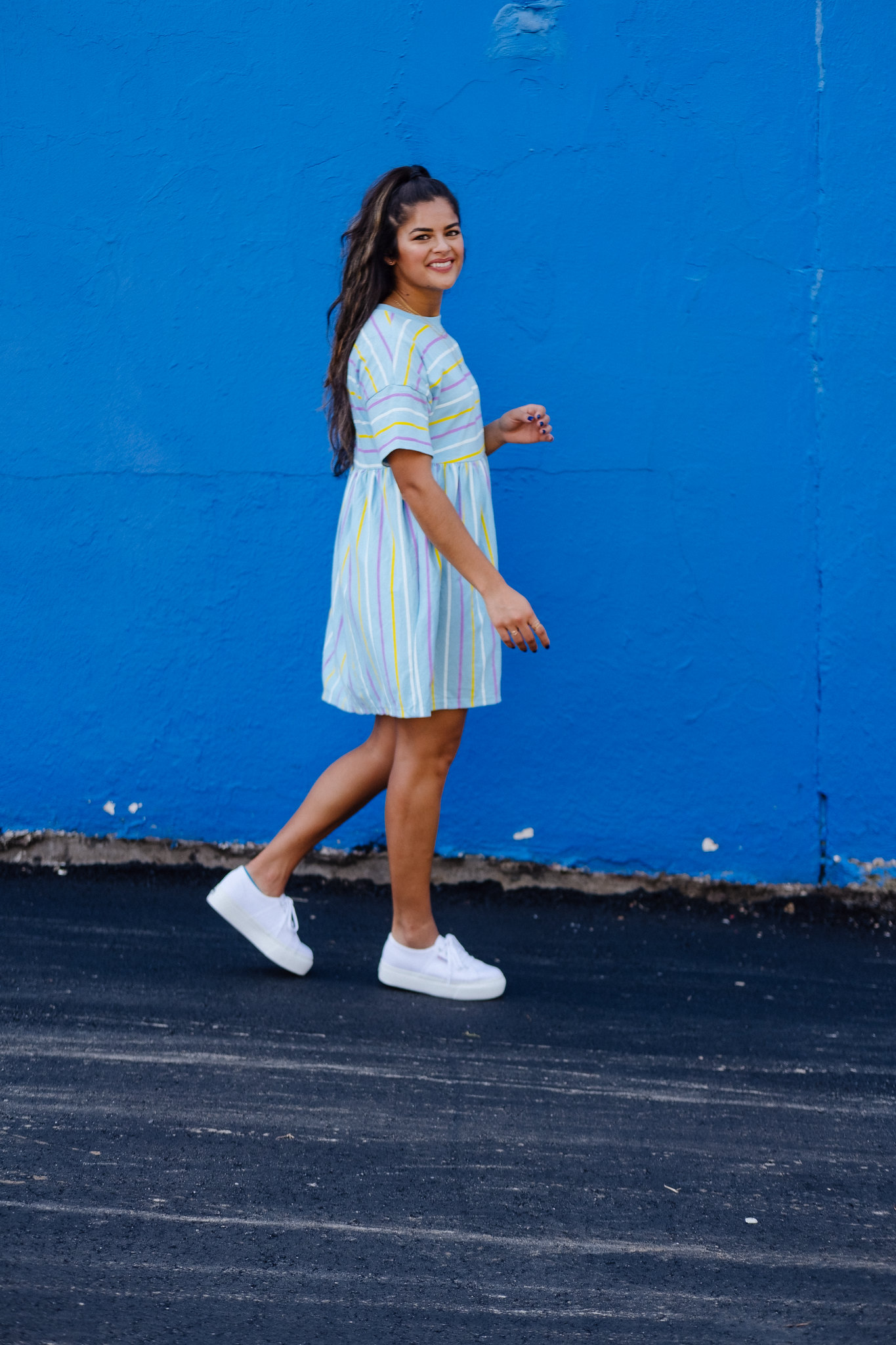 Fall 2018 outfit idea, Priya the Blog, Nashville fashion blog, Nashville fashion blogger, Nashville style blog, Nashville style blogger, platform Supergas, platform Superga trainers, smock dress for Fall, babydoll dress for Fall, babydoll dress with platform sneakers, how to wear platform sneakers, Fall outfit with babydoll dress, ASOS smock dress