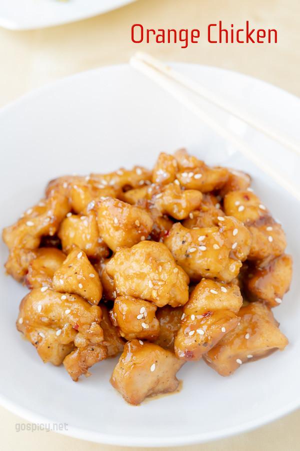 Orange Chicken Recipe by GoSpicy.net/