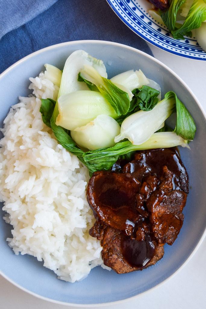Five Spice Pork with Pak Choi & Jasmine Rice
