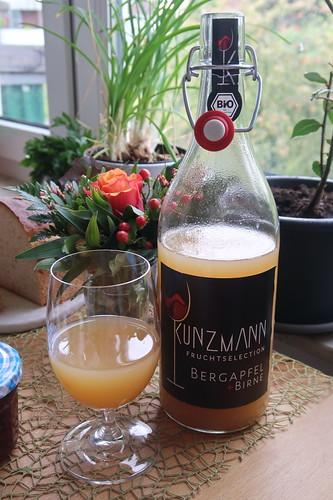 Bio-Direktsaft Bergapfel + Birne (der Weinkellerei Kunzmann)