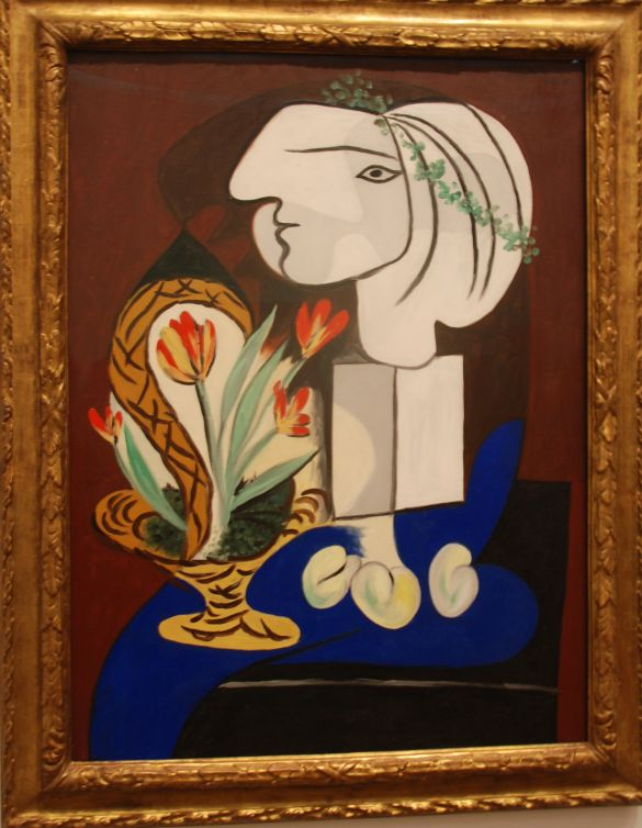 108 DSC_4299 PicassoWednesday2March1932ParisStillLifeWithTulipsOilPaintOnCanvas