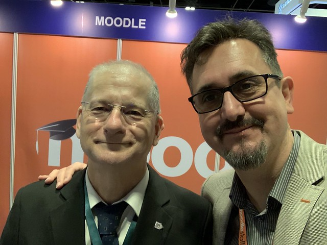 Tom Worthington and Martin Dougiamas at EduTech Asia 2018