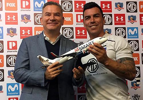 Estuardo Ortiz y Esteban Paredes acuerdo con Colo-Colo (JetSMART)