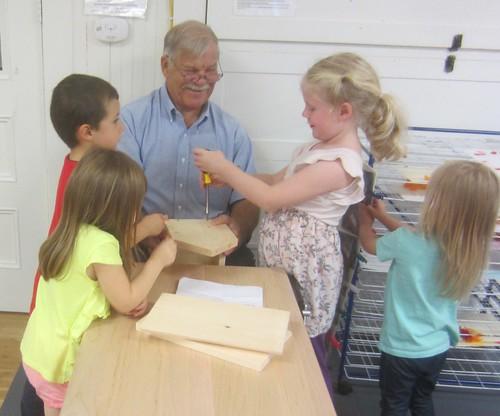 building the birdhouse