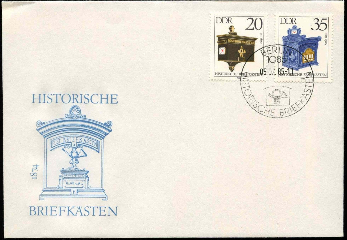German Democratic Republic - Scott #2457-2458 (1985) first day cover