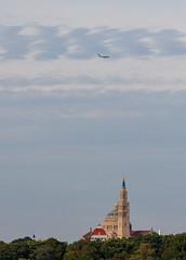 A C-17 Flies over the Basilica