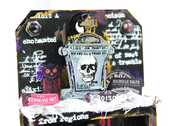 Meihsia Liu Simply Paper Crafts Mixed Media Spooky Halloween Simon Says Stamp Tim Holtz 2