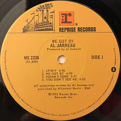 AL JARREU:WE GOT BY(LABEL SIDE-A)