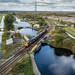 20302 and 20305 at Keadby Canal Crossing