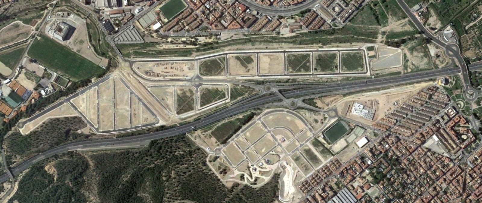 el palmar, la alberca, murcia, doble tanto de rotonda, después, urbanismo, planeamiento, urbano, desastre, urbanístico, construcción, rotondas, carretera