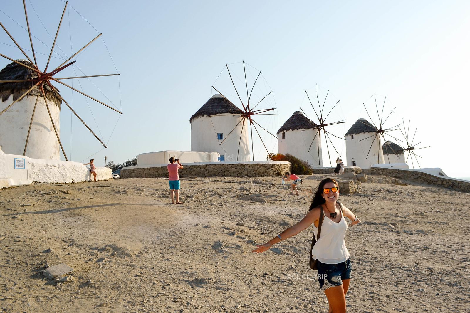 · Qué ver en Mykonos · Molinos de viento, imprescindibles de Mykonos ·