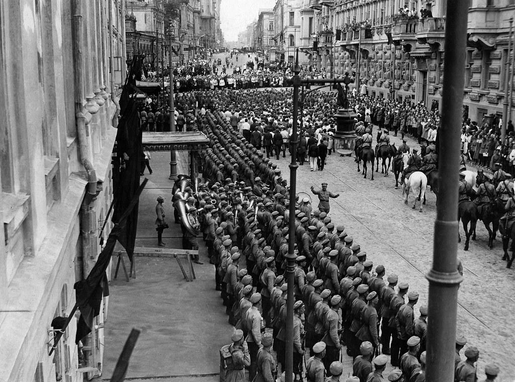 1926. Улица Большая Дмитровка. Похороны Дзержинского