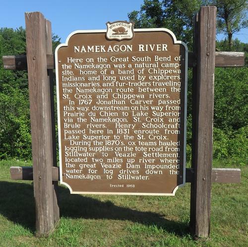 Namekagon River Marker (Washburn County, Wisconsin)
