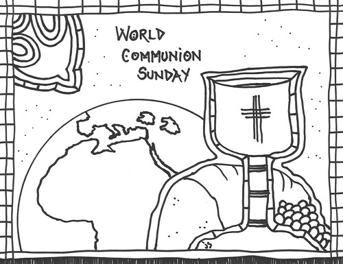 World Communion coloring page
