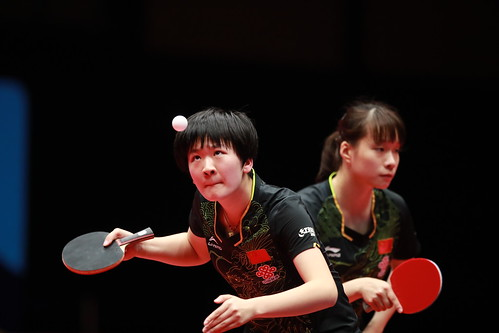 Junior Girls' Doubles Finals at the2018 World Junior Table Tennis Championships
