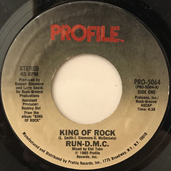 RUN-D.M.C.:KING OF ROCK(LABEL SIDE-A)