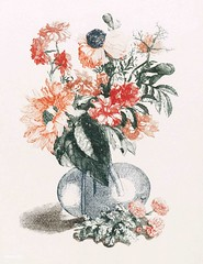 Flowers in a vase (1688-1698) by Johan Teyler (1648-1709). Original from the Rijks Museum. Digitally enhanced by rawpixel.