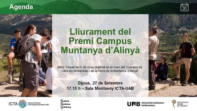 Premi Campus Muntanya d'Alinyà 2018