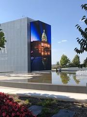 Jumbotron with photo of U.S. Capitol, reflecting pool at MGM National Harbor, Oxon Hill, Maryland