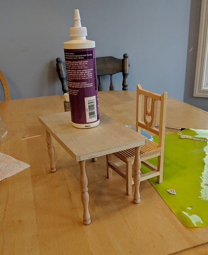 table glue drying