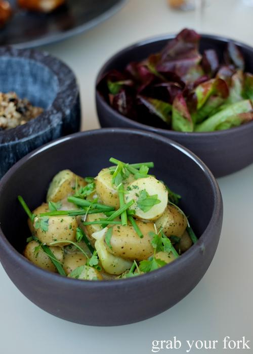 Potato salad and mignonette lettuce at Bennelong Restaurant in the Sydney Opera House